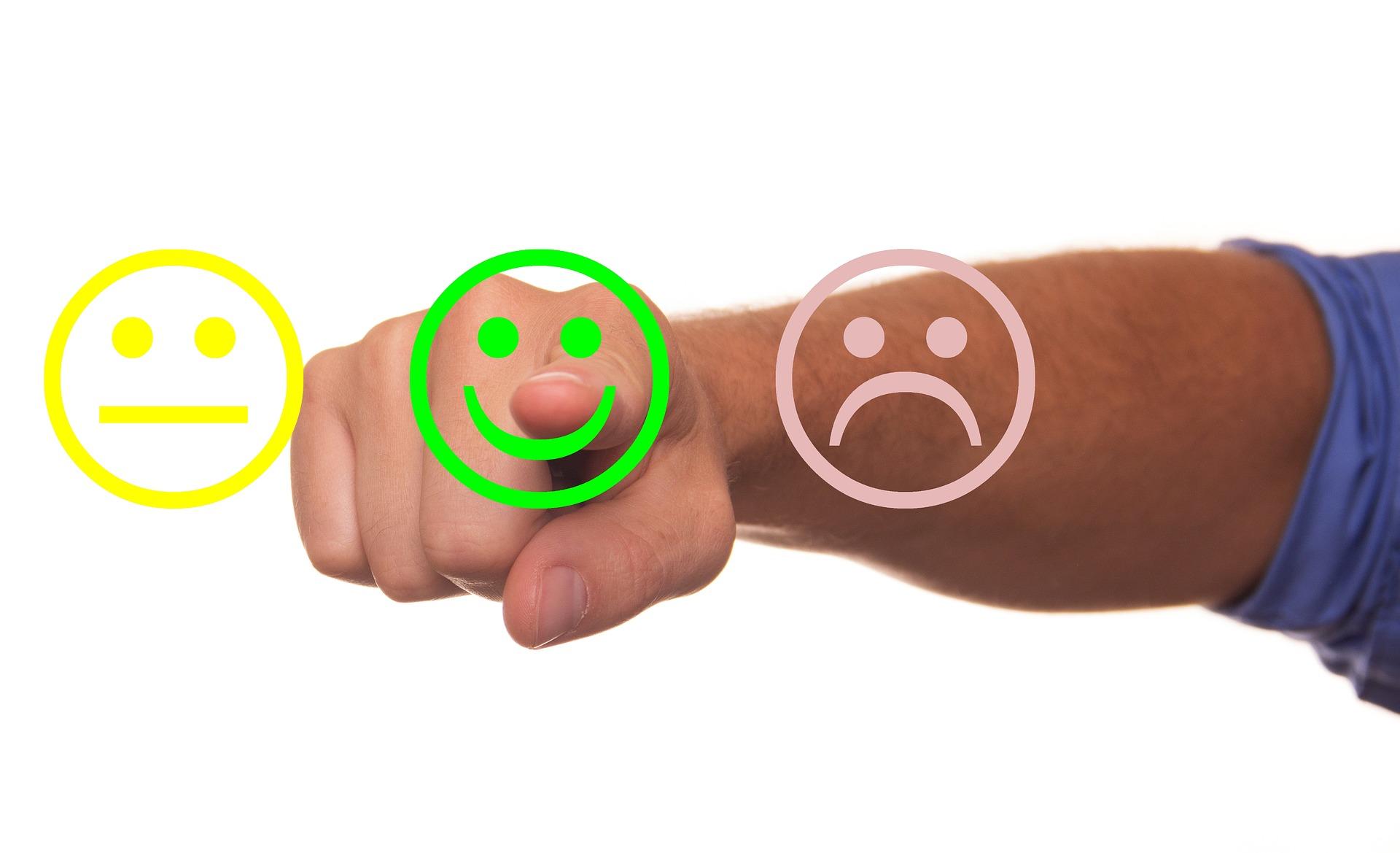 avaliação cliente satisfeito