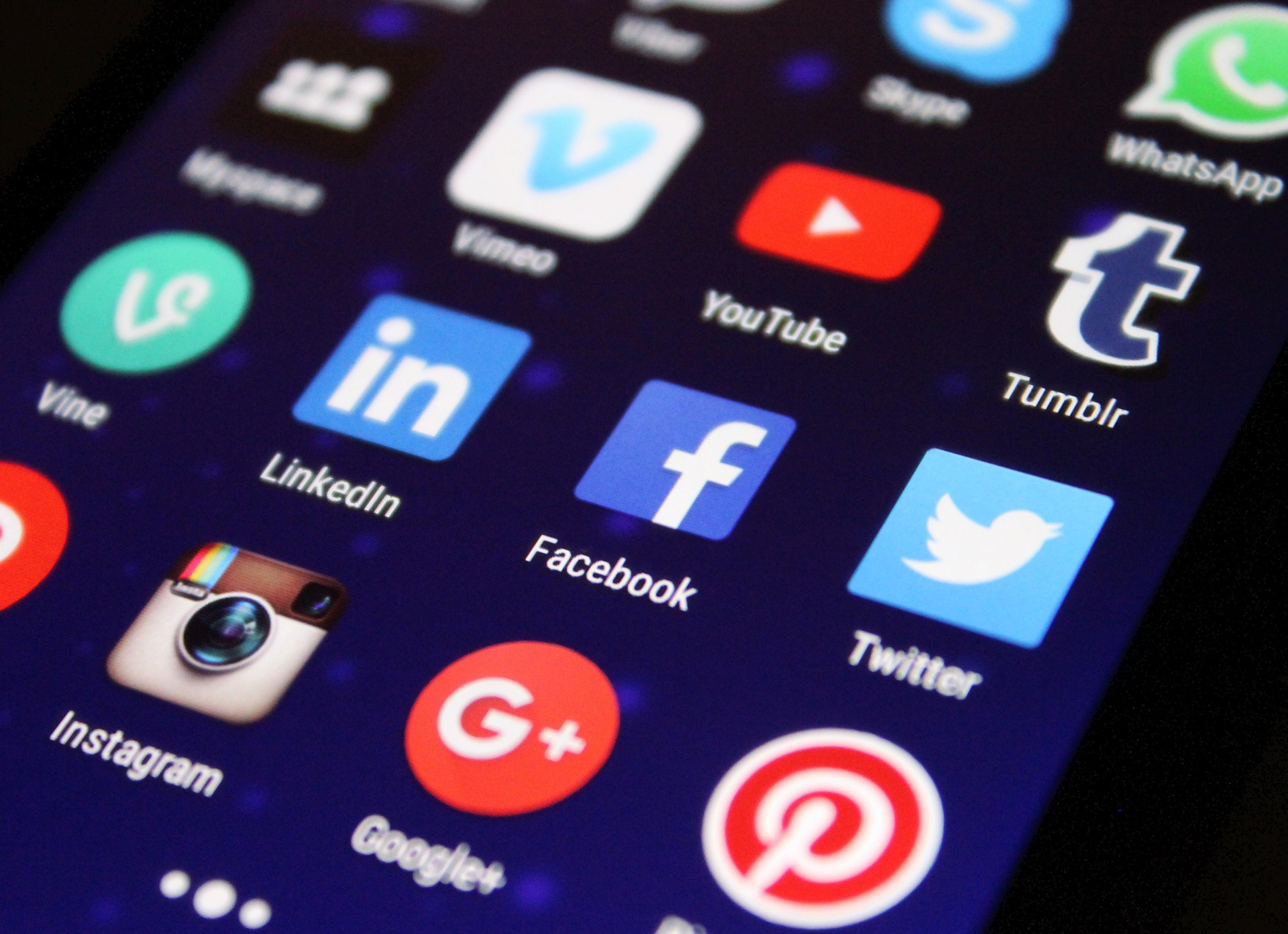 aplicativos midias sociais