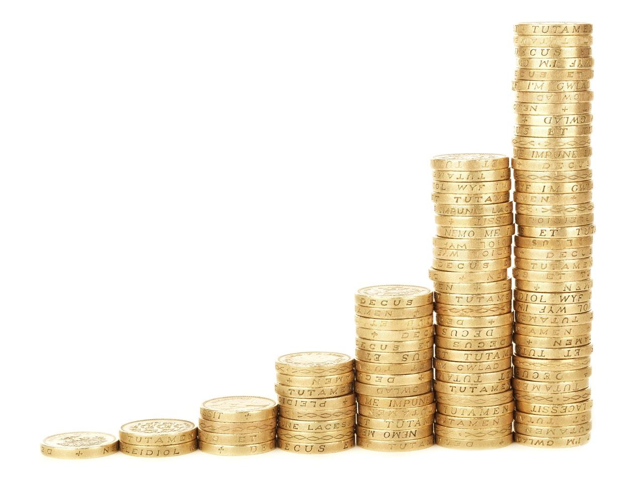 pilha de moedas