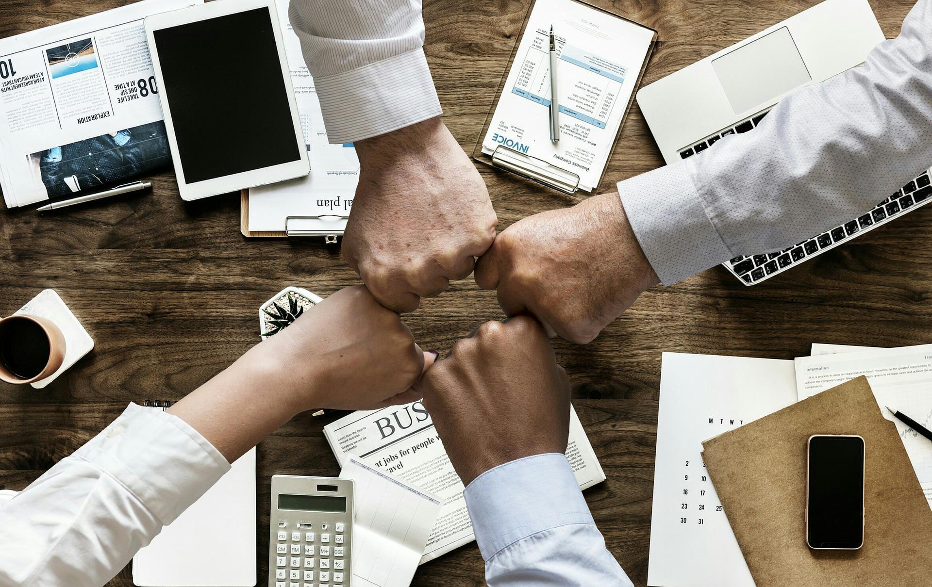 união equipe empresarial